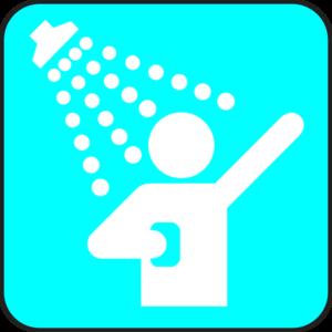 Showering clipart. Blue shower clip art