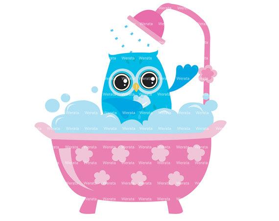 Owl shower clip art. Showering clipart