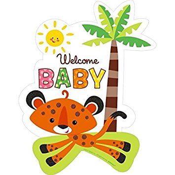 Showering clipart. Welcome baby tiger cutout
