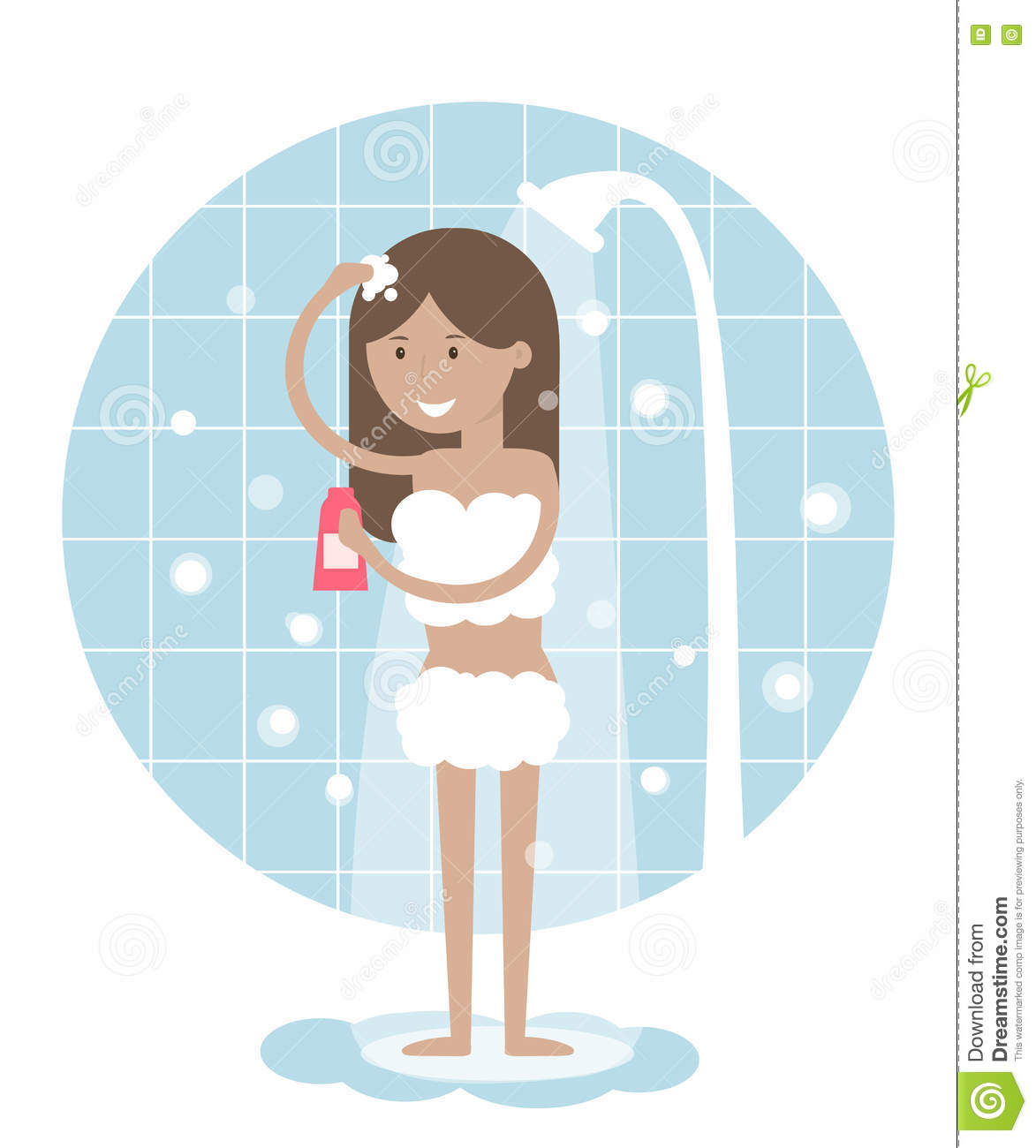 Showering clipart.  collection of shower
