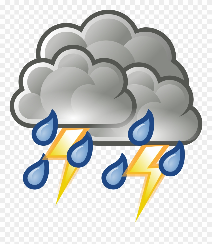 Thunderstorm clipart thunderstorm weather. Storm different png