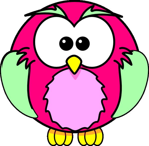 Showering clipart bird. Pink owl clip art