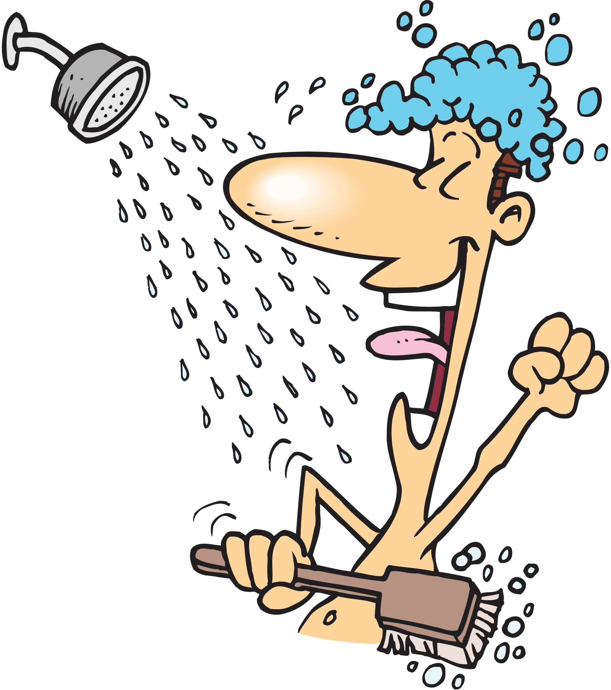 Do you it in. Showering clipart ducharse