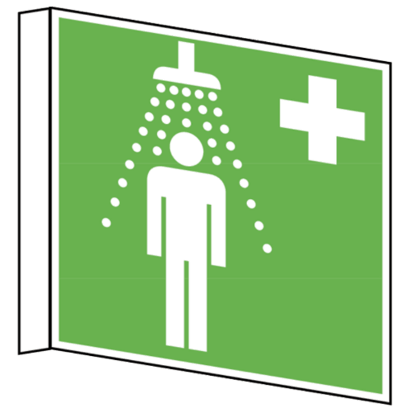 Showering clipart emergency shower. B safety signs for