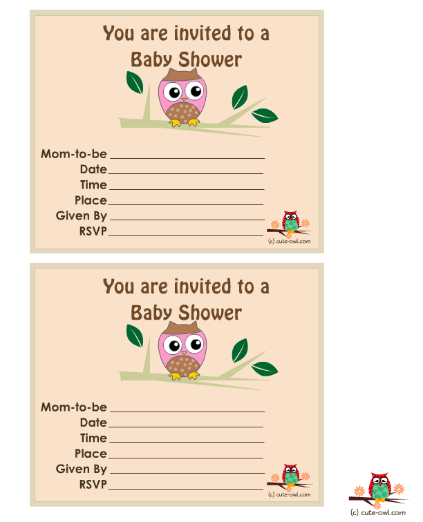 Free printable themed girl. Showering clipart mom baby owl