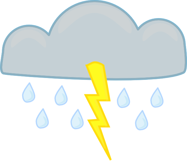 Evan reporting strong thunder. Showering clipart scattered thunderstorm