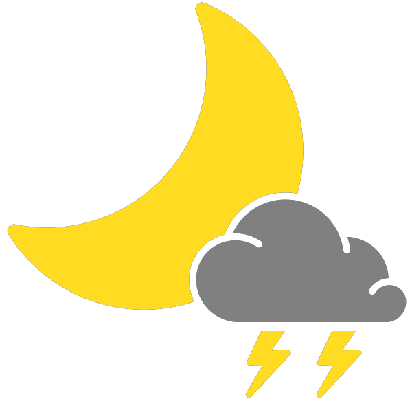 Simple weather icons thunderstorms. Showering clipart scattered thunderstorm