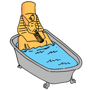 The evolution of hot. Showering clipart warm bath