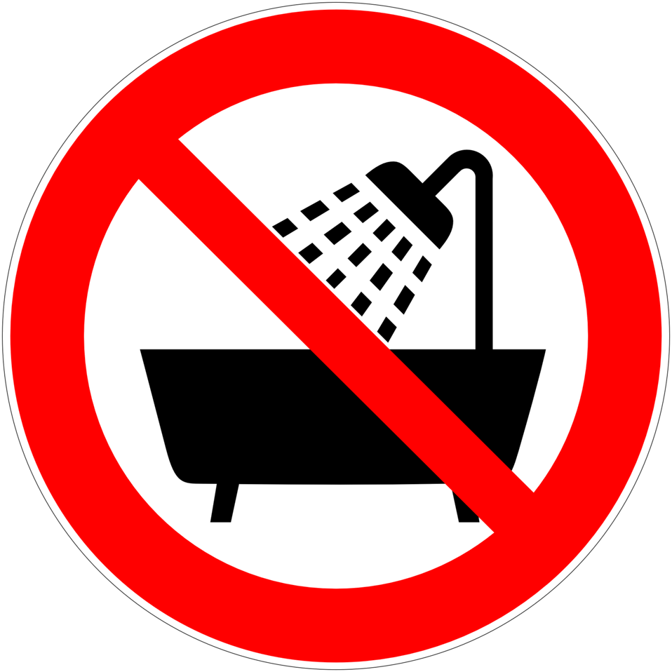 Public domain clip art. Showering clipart water usage