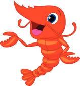 Clip art royalty free. Shrimp clipart