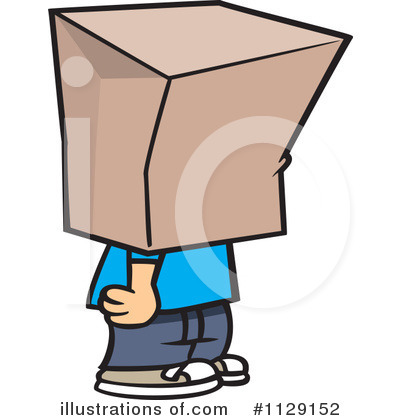 Shy clipart. Illustration by toonaday royaltyfree