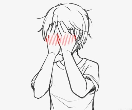 Shy clipart. Blush feel embarrassed png