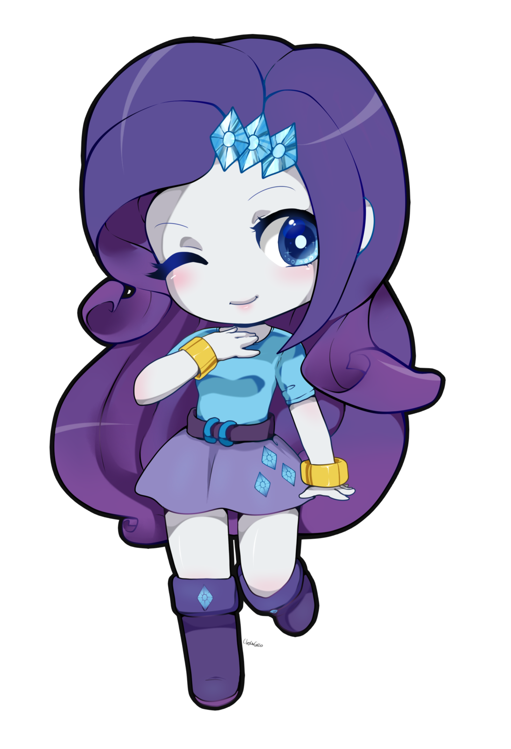 Rarity equestria chibi cute. Shy clipart adorable girl