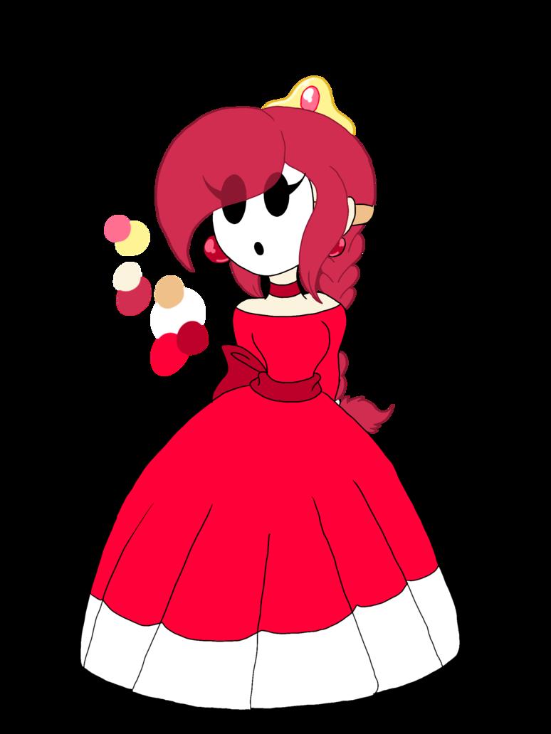 Mario oc princess sheila. Shy clipart adorable girl