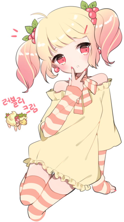 Shy clipart adorable girl. Anime in pigtails and