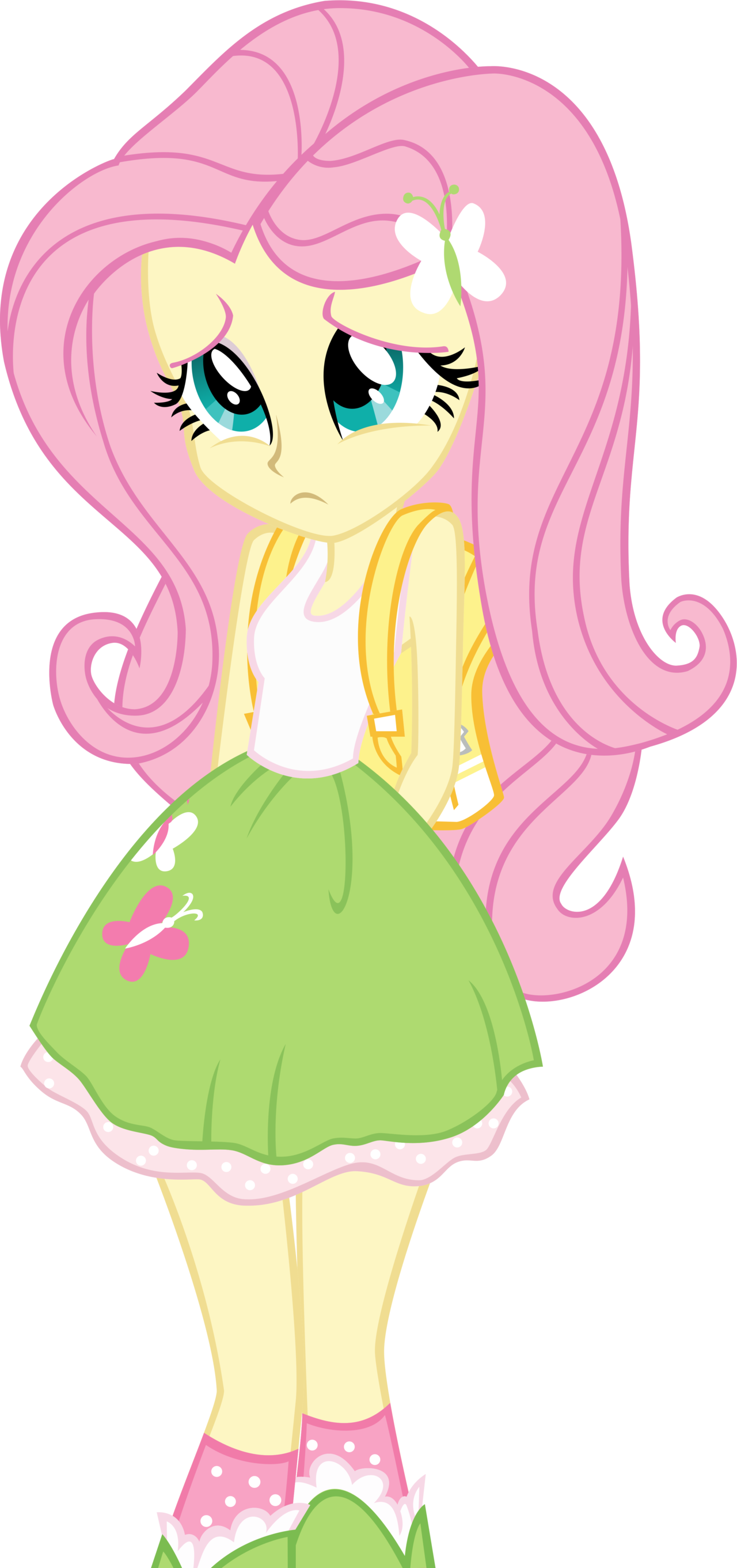 Equestria girls scolded fluttershy. Shy clipart adorable girl
