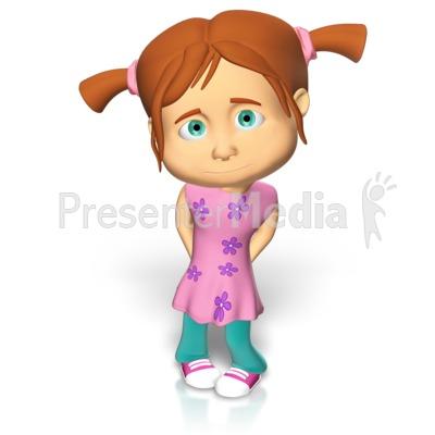 Cute girl presentation great. Shy clipart animated