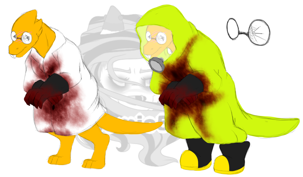 At alphys reff by. Shy clipart ashamed