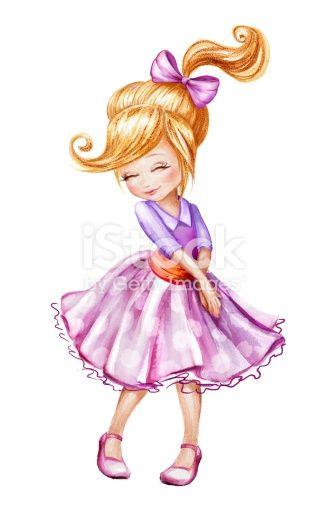 Shy clipart beautiful kid. Cute little girl cartoon
