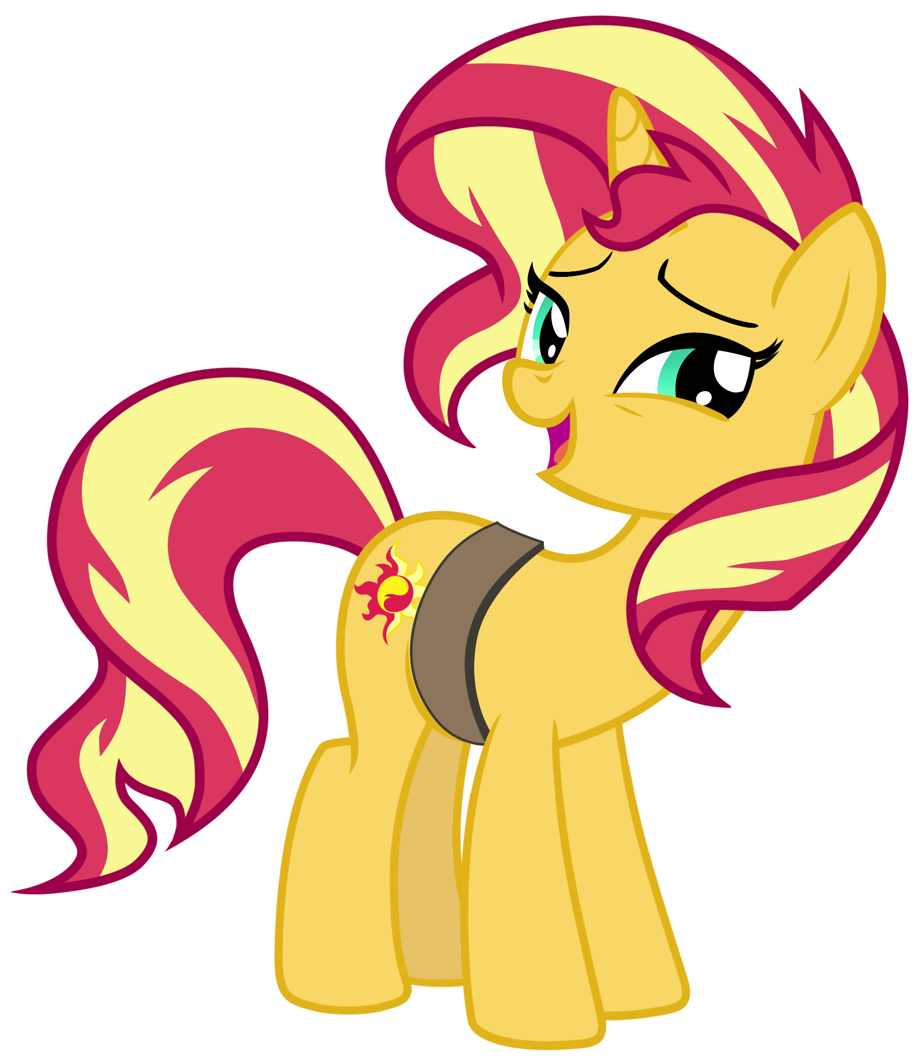 Shy clipart cheerful girl. Sunset shimmer by famousmari