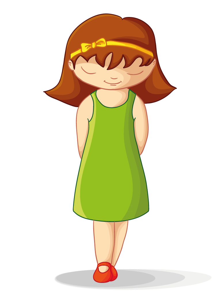 Shy clipart gurl. Quiet girl free download