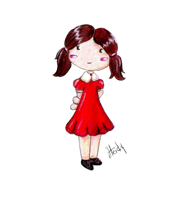 Cute cartoon images by. Shy clipart little girl