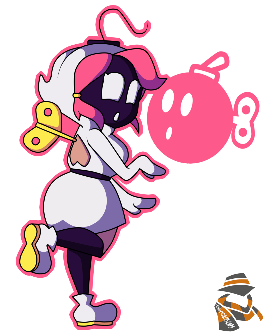 Shy clipart pink girl. Bomb by theoctoberscarf on