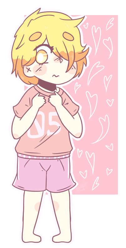 Commission bean by nick. Shy clipart pink girl