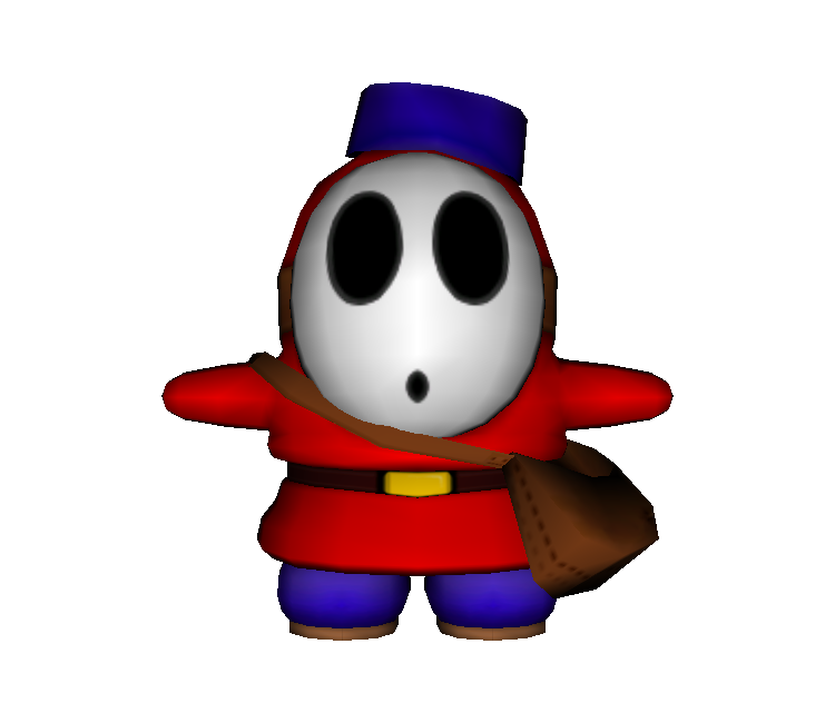 Shy clipart shy boy. Gamecube mario party guy