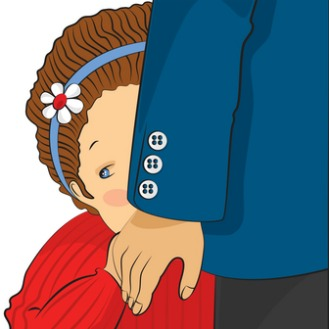 Your shy child . Worry clipart shyness