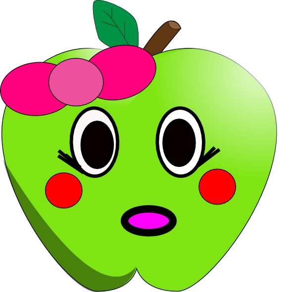 Little apple clip art. Shy clipart shy face