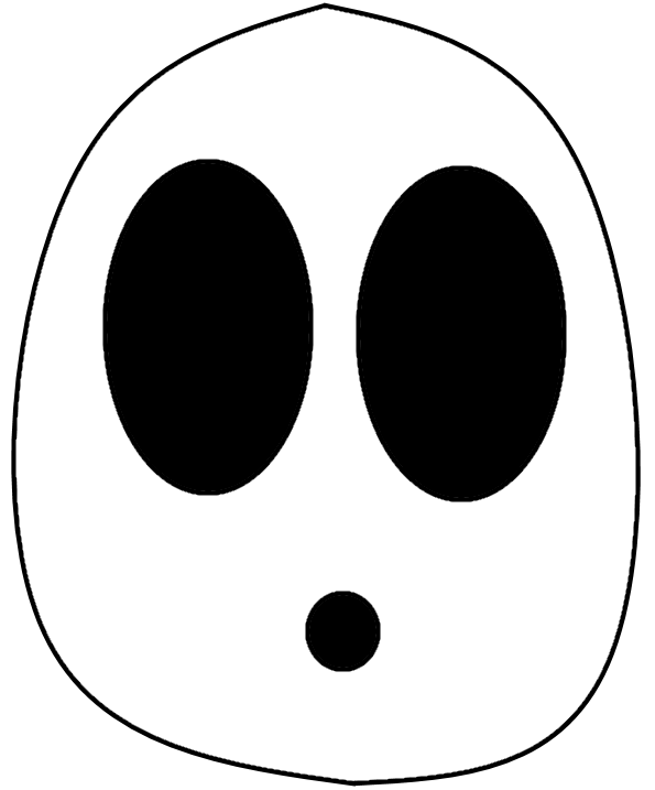 Just a guy mask. Shy clipart shy face