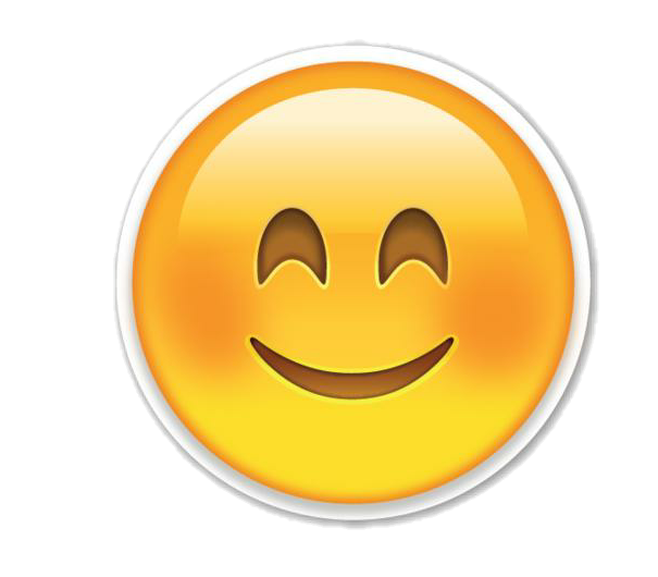 Shy clipart shy face. Emoji whatsapp love sticker