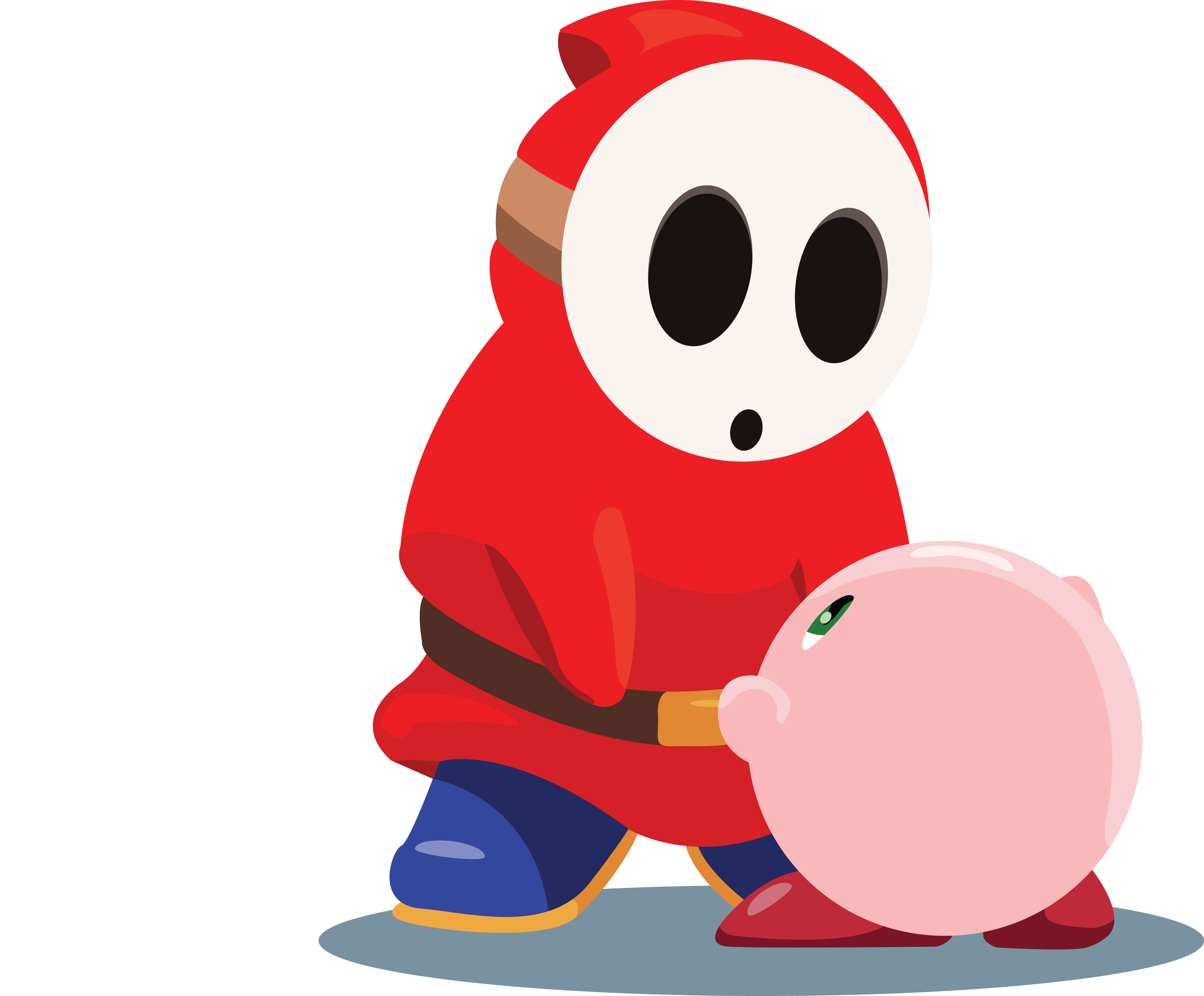 And kirby by theneverendingpit. Shy clipart shy guy