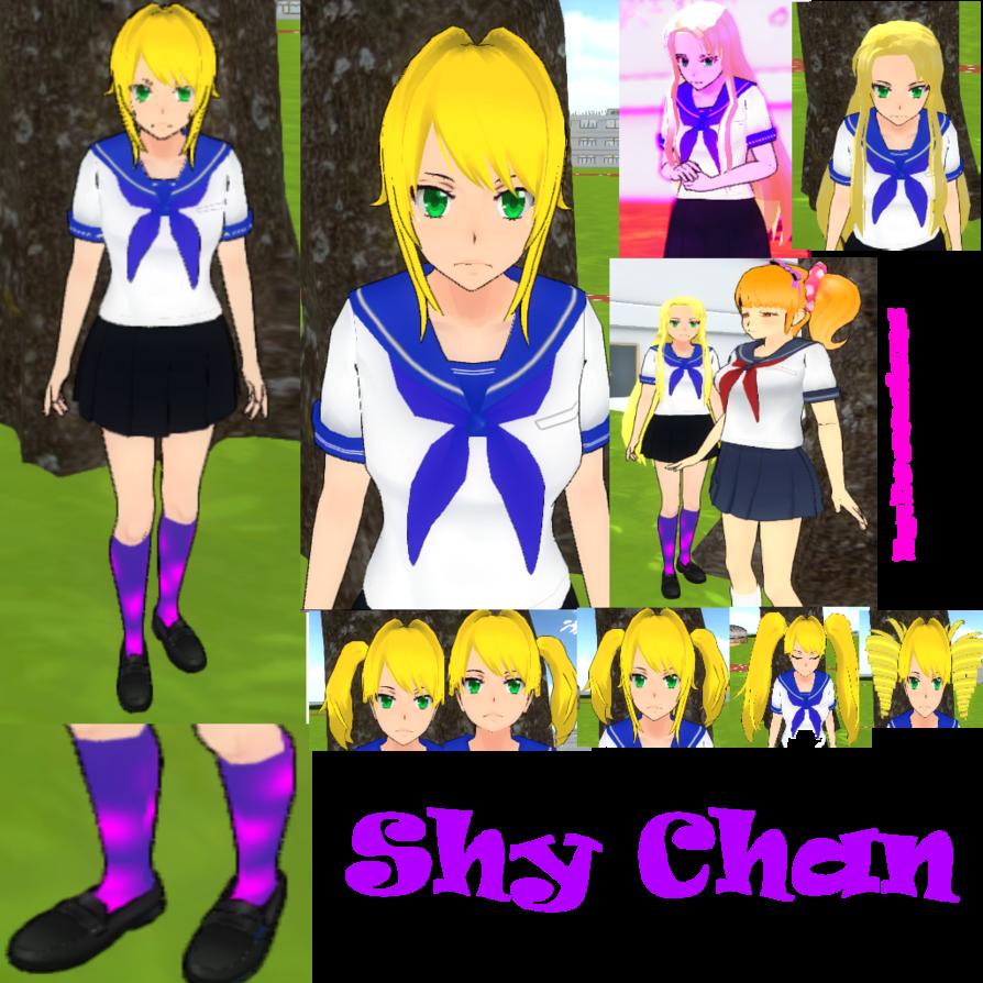 Chan yandere simulator skin. Shy clipart shy person