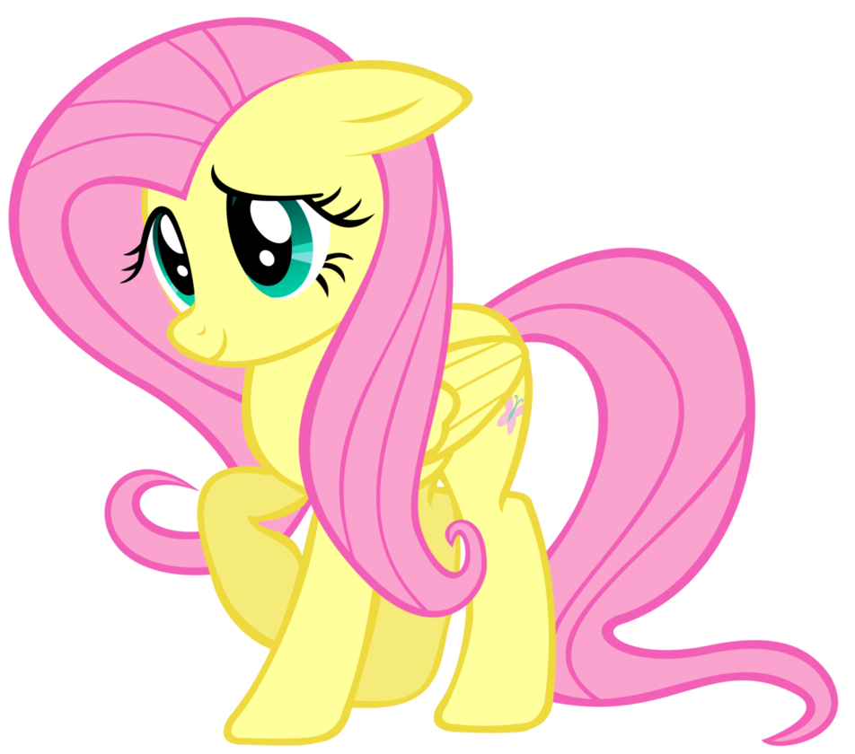 Fluttershy looking particularly by. Shy clipart shy smile