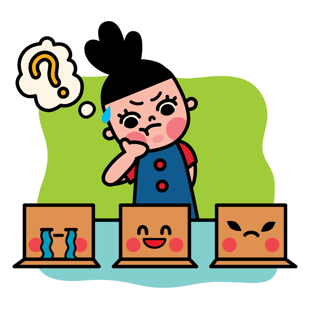 Shy clipart sickly child. Facebook stickes box girl