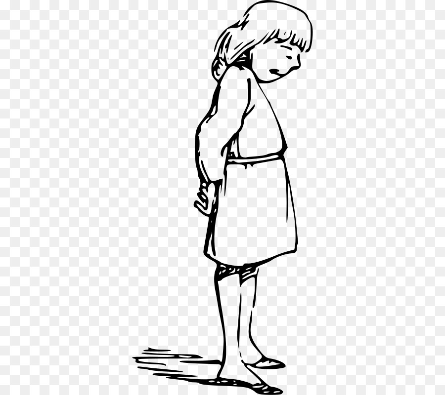Shy clipart standing. Woman cartoon horse hand