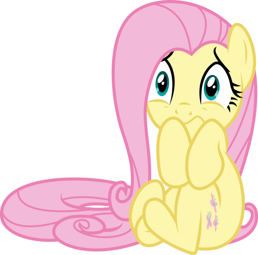 Scared fluttershy by gamemasterluna. Shy clipart timid