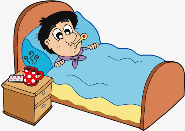 Children bed png image. Sick clipart