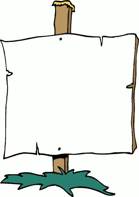 Sign clipart.