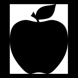Free clip art fruit. Silhouette clipart