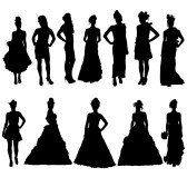 Silhouette clipart bridesmaid. Free cliparts download clip
