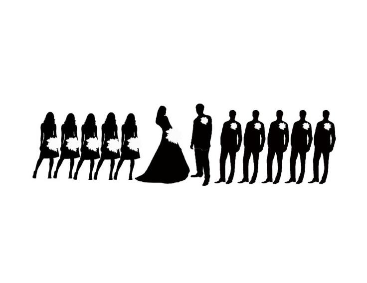 Silhouette clipart bridesmaid.  clip art clipartlook