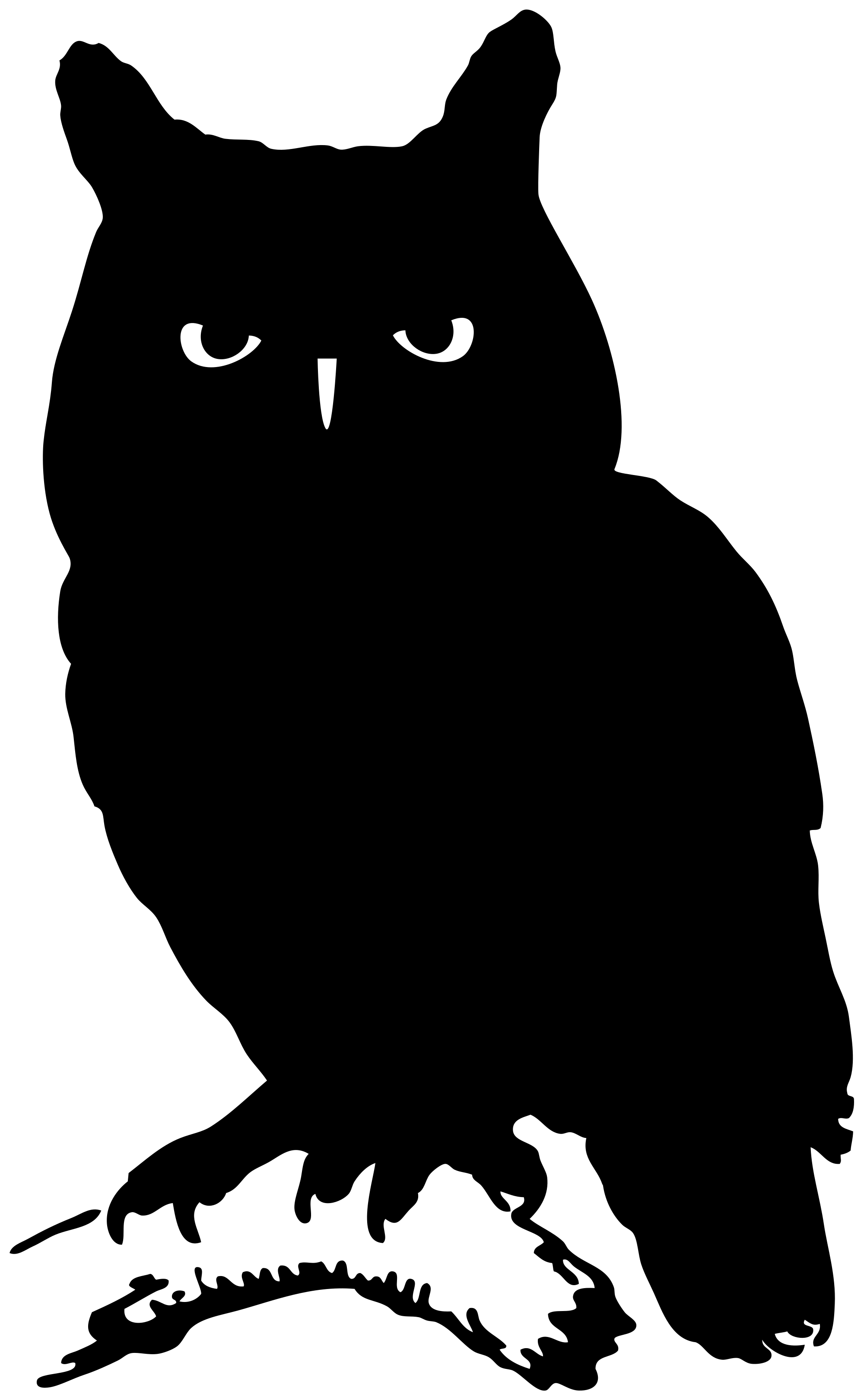 File of an svg. Silhouette clipart owl