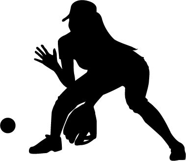 Free cliparts download clip. Softball clipart silhouette