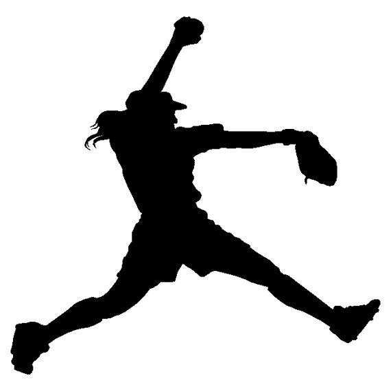 Softball clipart silhouette. Free cliparts download clip
