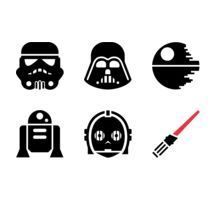 Starwars clipart stencil. Star wars silhouette clip