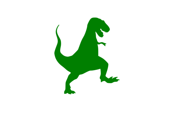 T rex page of. Trex clipart silhouette