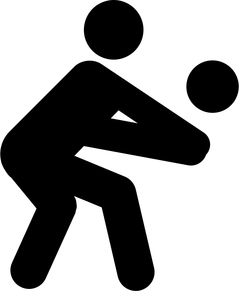 Silhouette clipart volleyball. Svg png icon free